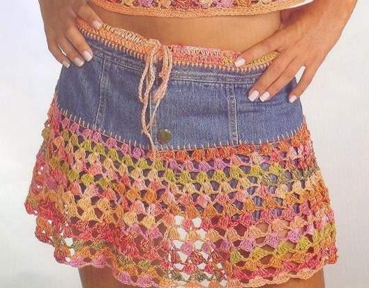 Faldas a Crochet De Ninas