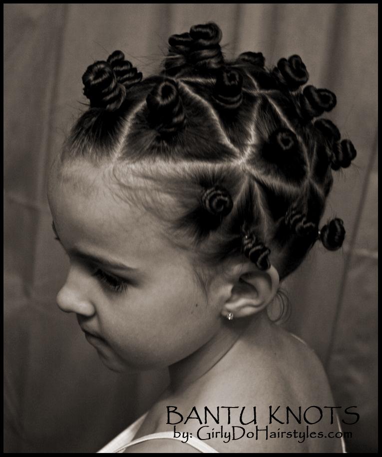 basket weave hairstyle : Bantu Knots