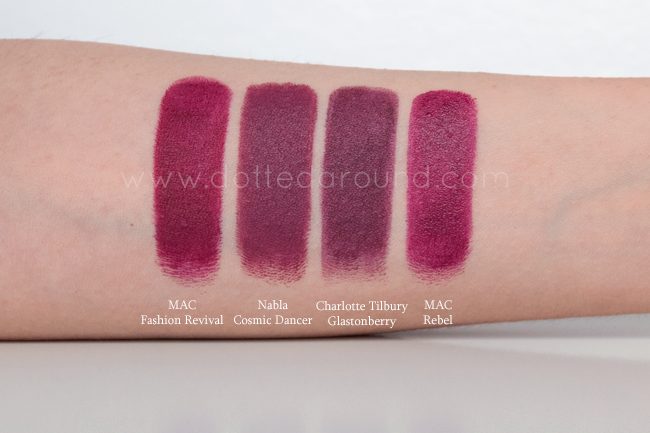 Nabla Cosmic Dancer swatch rossetto lipstick