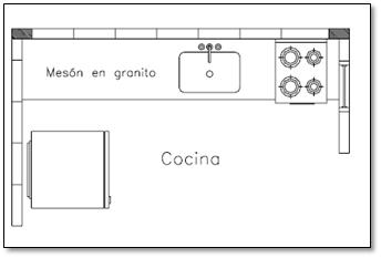 Construcci n mayo 2015 for Cocina plano arquitectonico