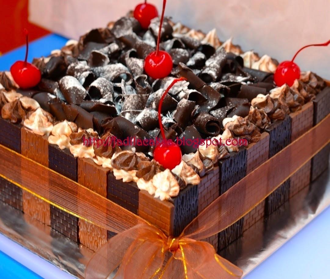 Fadila Cakes BIRTHDAY CAKE COKLAT