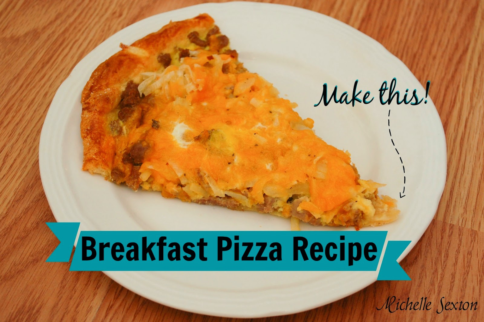This Breakfast Pizza Recipe is the perfect thing to make for any meal, regardless of the time of day. Click through to learn how to make this.