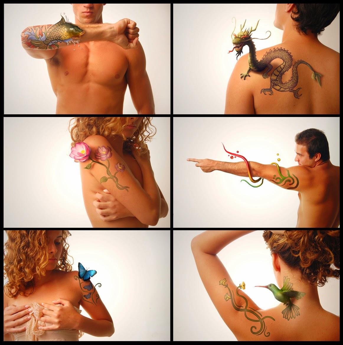 illustration de Tiago Hoisel représentant des tatouage prenant vie