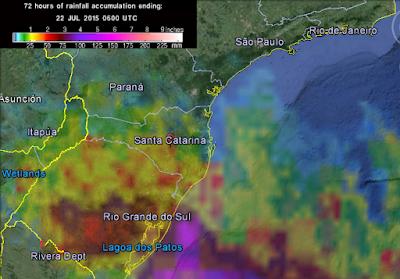 Acumulación de precipitaciones de 72 h hasta 22 de julio 2015 a las 06:00 UTC