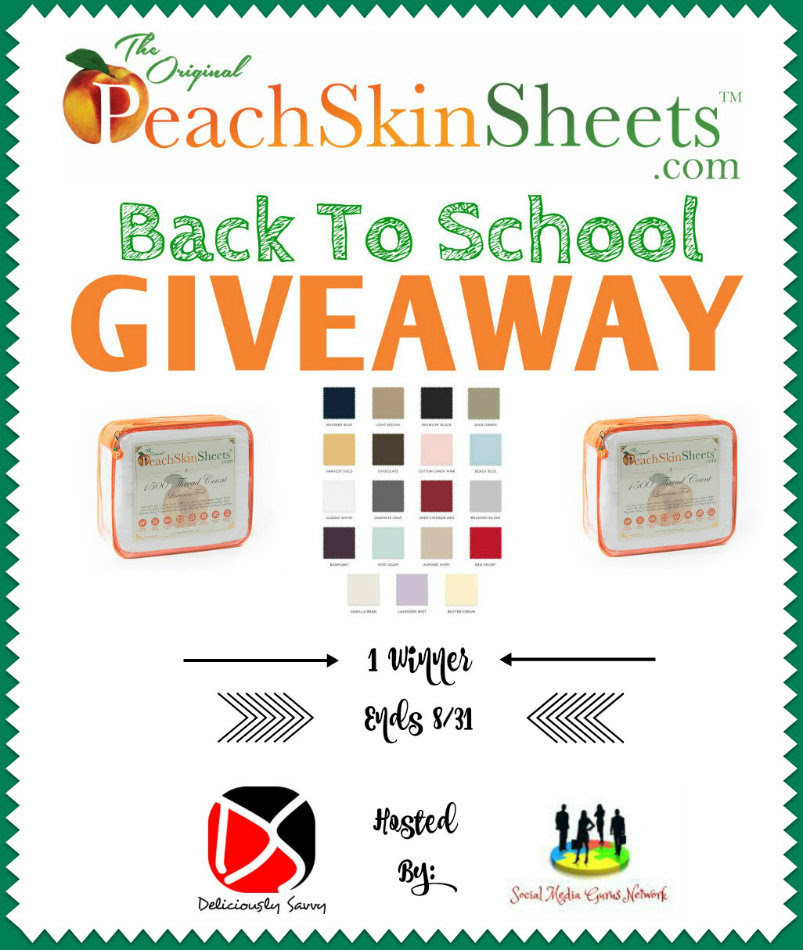 PeachSkins Sheets Giveaway