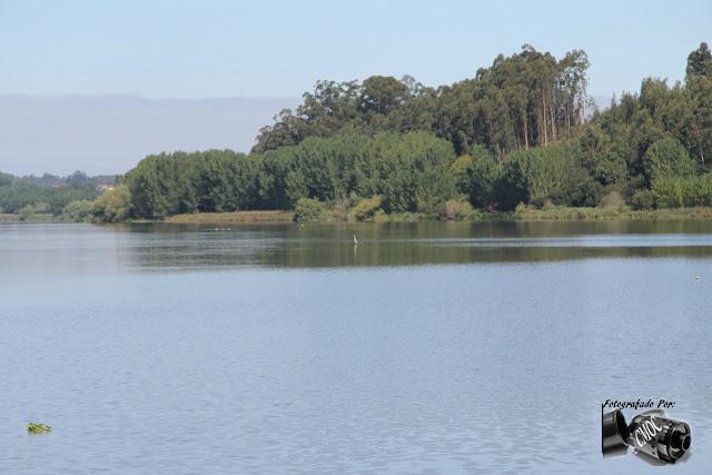 Imagem do lago da Pateira em duas prespetivas. Duas lindas imagens que se completam entre si