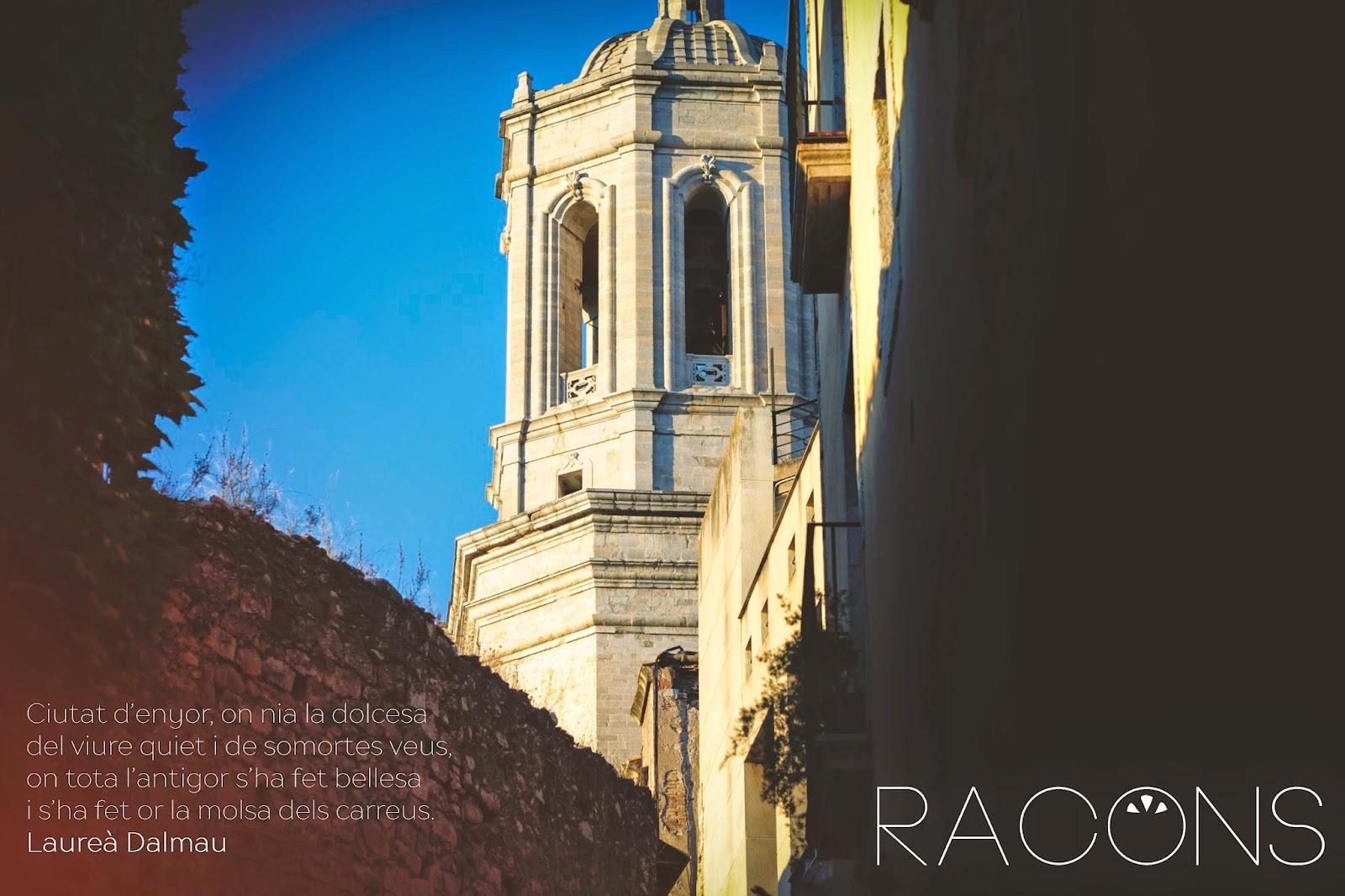 Vista de la catedral d'es d'un Racó del Barri Vell Girona