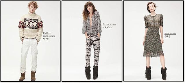 Collaboration H&M x Isabel Marant : Lookbook hommes femmes lou Doillon Mia Jovovitch robe en soie pantalon imprimé