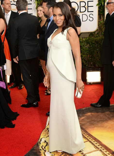 Kerry Washington in Balenciaga at the Golden Globes
