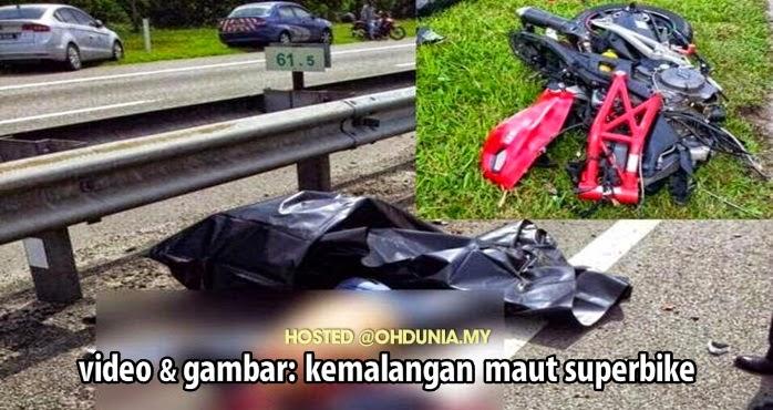 Video & Gambar Penunggang Ducati Maut, Putus Kaki Kemalangan