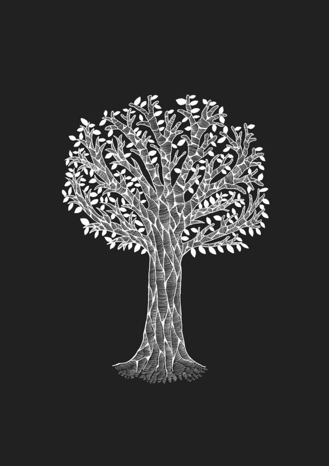 The White Tree Illustration Printed on Merchandise Illustration by Haidi Shabrina