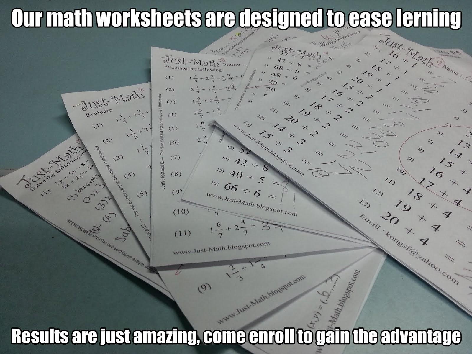 math worksheet : just math mathematics development centre : Kumon Math Worksheets Download