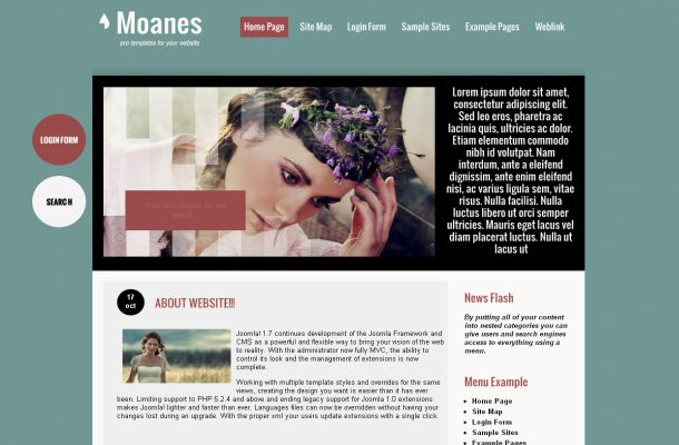 Free Joomla Green Wedding Business Theme Template