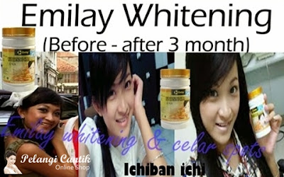 Testimoni EMilay whitening pemakaian 1-3 bulan