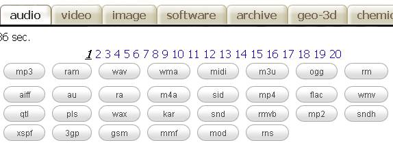 recherche fichier audio