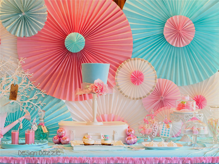 How To Make a Party Backdrop With Paper Window Shades Design Dazzle