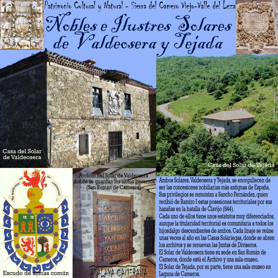 Sierra del Camero Viejo - Valle del Leza. Patrimonio Cultural y Natural. Solares de Valdeosera y Tejada.