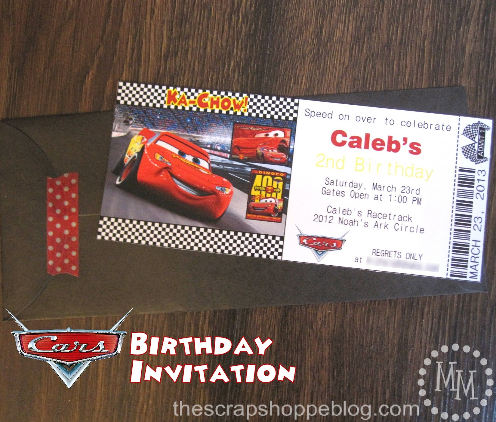 cars birthday invitation the scrap shoppe cars birthday invitation