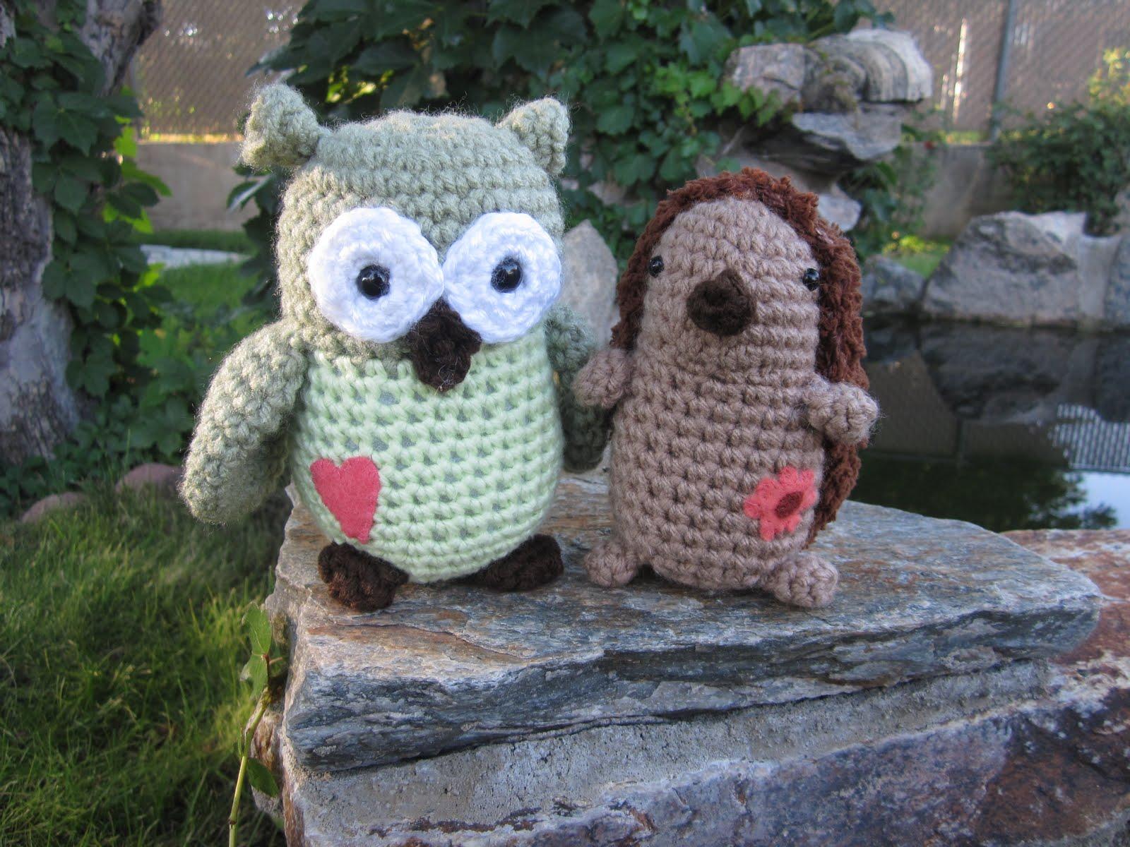Celestial\'s Creations: Owl and Hedgehog