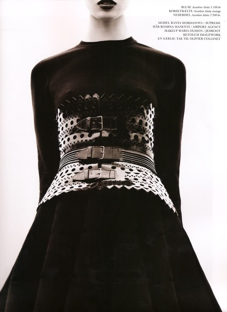 Azzedine Alaia leather laser-cut corset on Fashion and Cookies fashion and beauty blog, beauty blogger