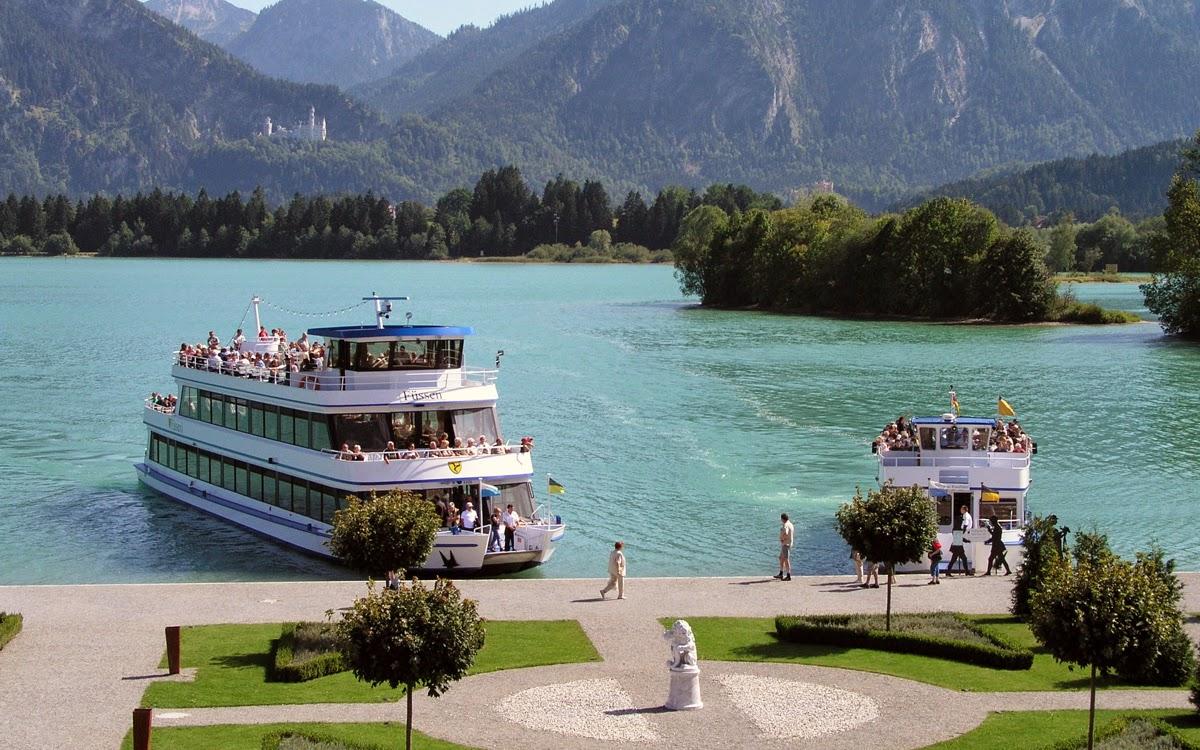 Forggensee lake neuschwanstein castle