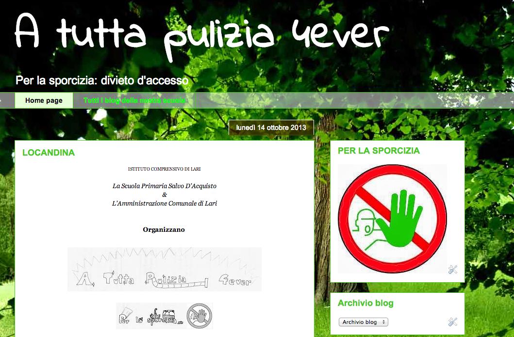 17 ottobre - Iniziativa per la pulizia dell'ambiente