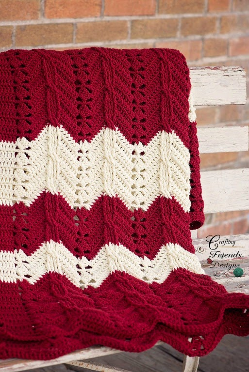 Classic Cable Chevron Afghan Crafting Friends Designs