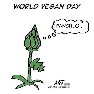 vegani, verdure, satira vignetta