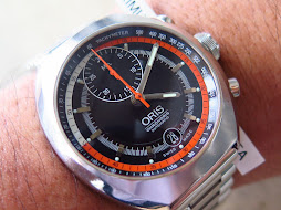 ORIS CHRONORIS BLACK TEXTURE DIAL ORANGE INNER INDEX- AUTOMATIC