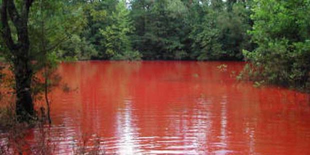 Ditemukan Danau Merah Seperti Darah Di Bengkulu
