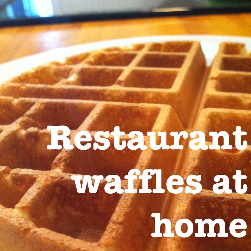 Restaurant Waffles