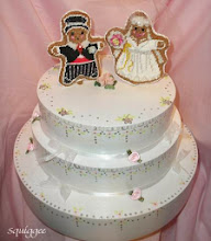 Gingerbread Bride and Groom Cake Topper