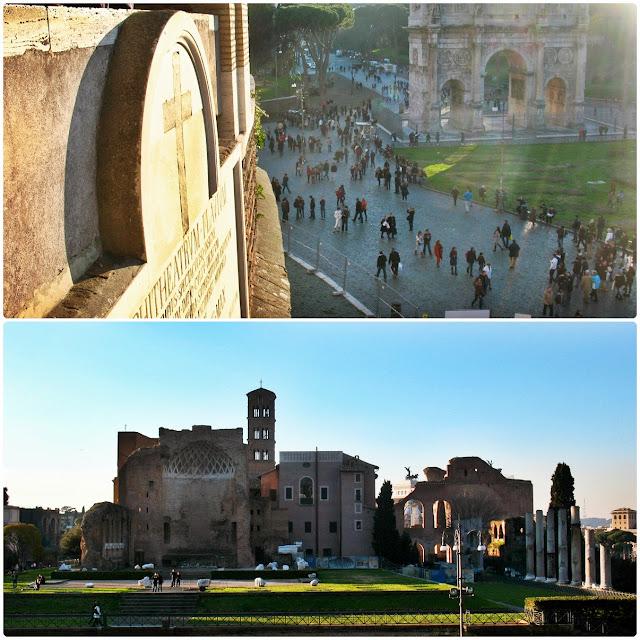 Łuk Konstantyna oraz Basilica Santa Francesca Romana