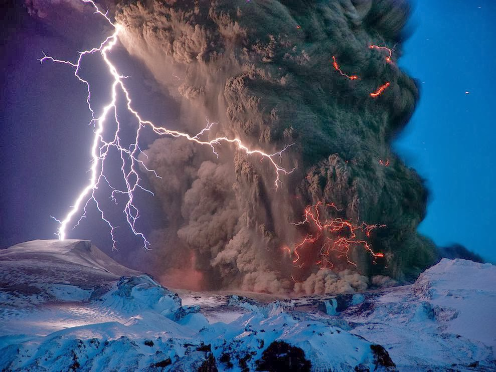 Eyjafjallajokull Volcano Iceland - 7 Epic Displays Of Lightning
