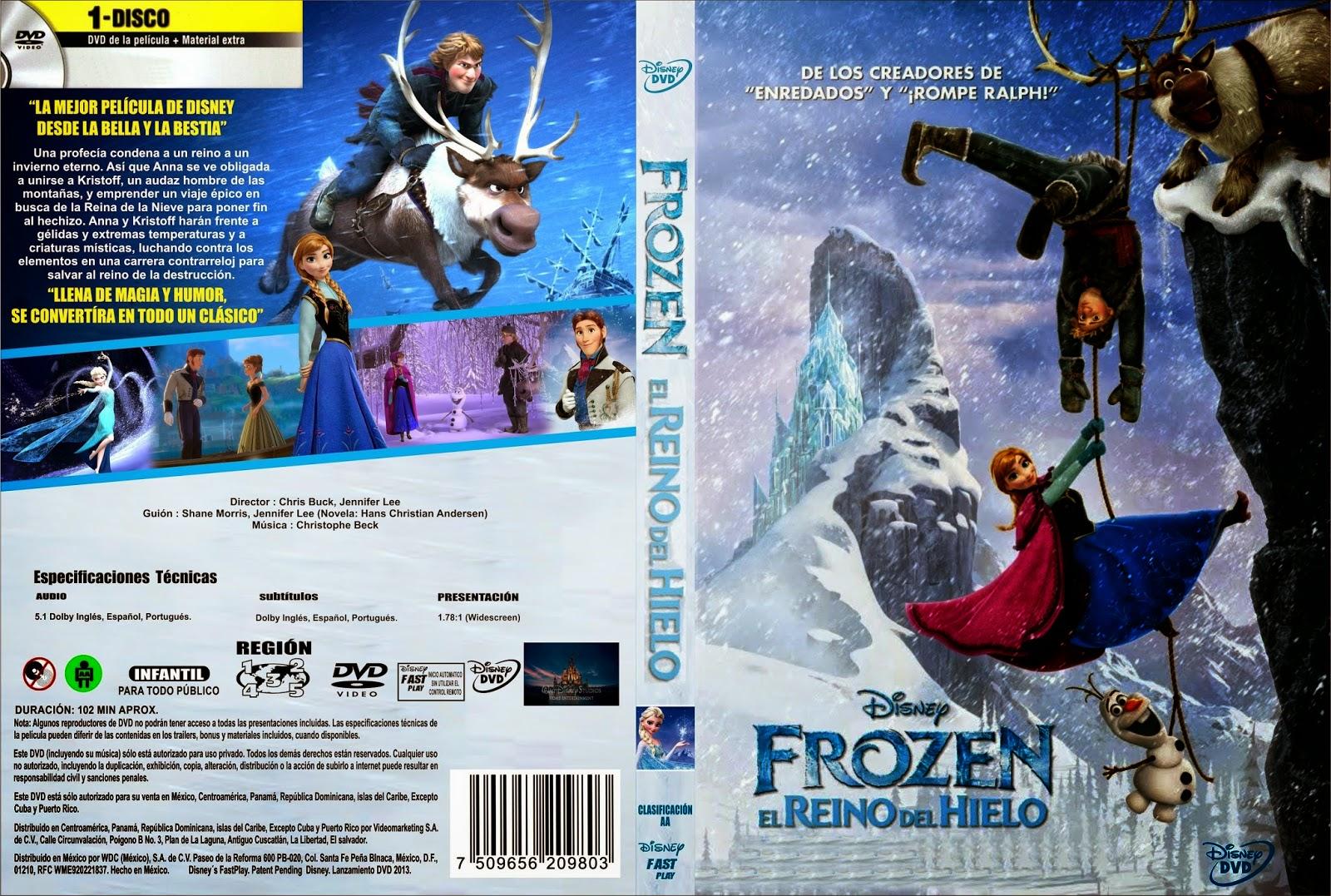 Frozen El Reino Del Hielo DVD