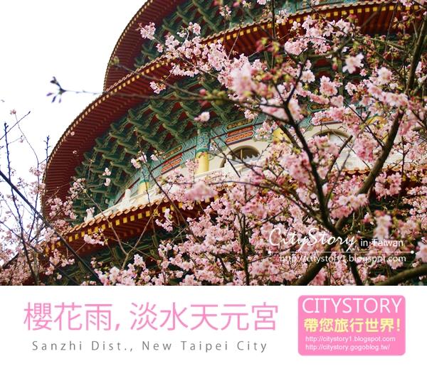 【新北市●三芝區●櫻花季】櫻花雨我的2012新北櫻花季,淡水天元宮