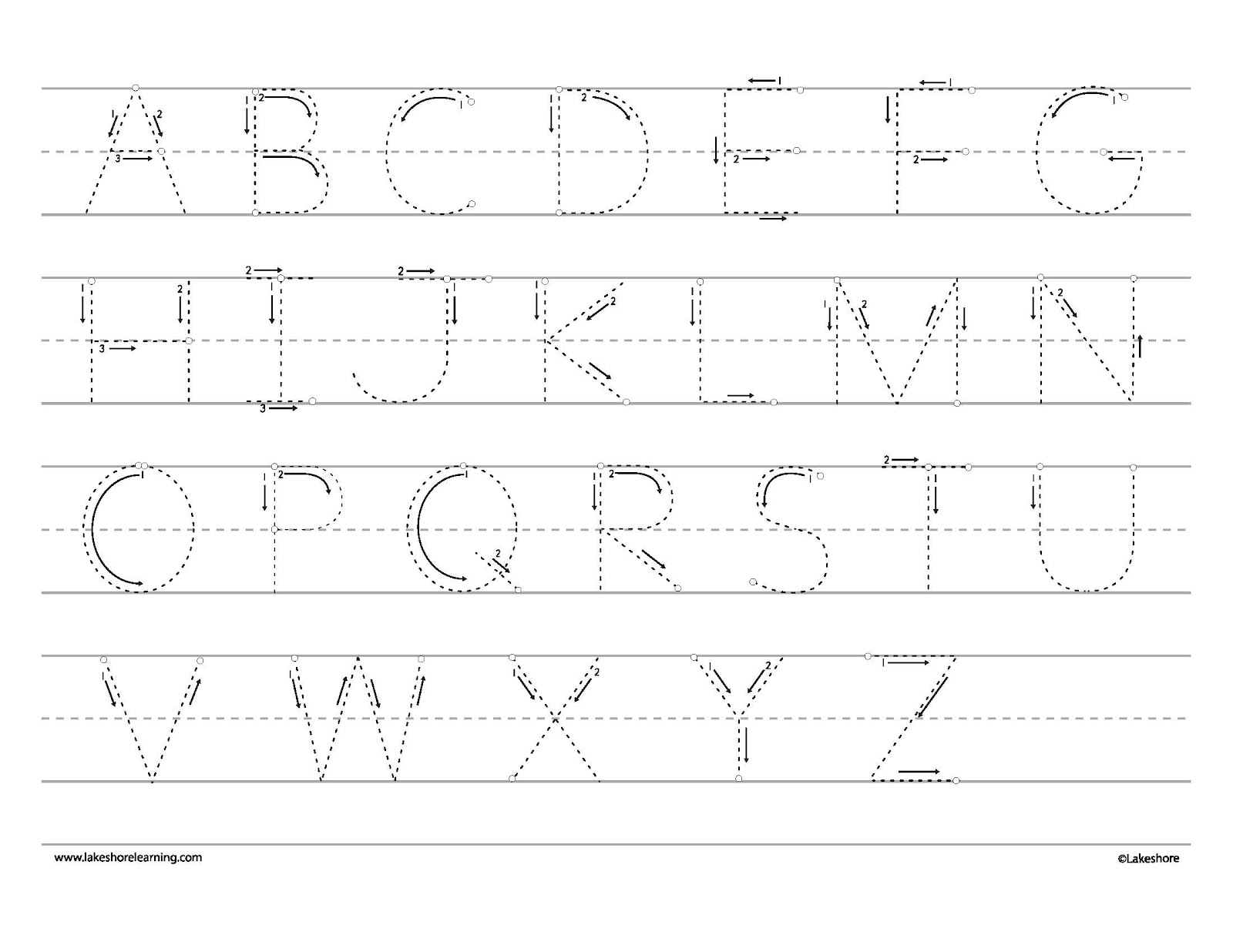 This is a picture of Playful Trace Letters for Preschoolers