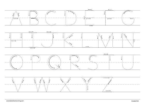 Tracing Letters Coloring Pages