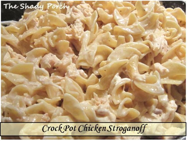 Slow Cooker Chicken Stroganoff by The Shady Porch
