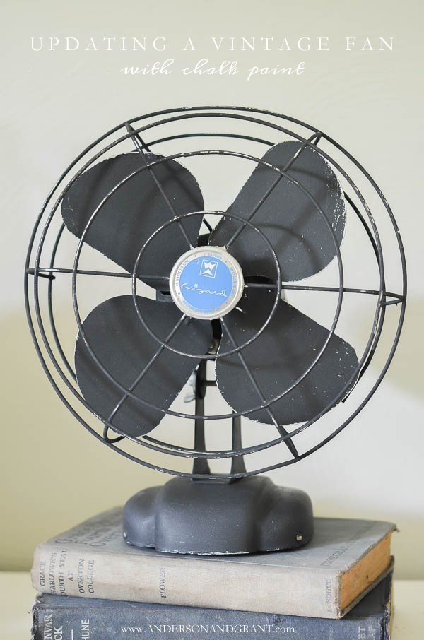 Vintage Fan anderson + grant: diy vintage fan makeover