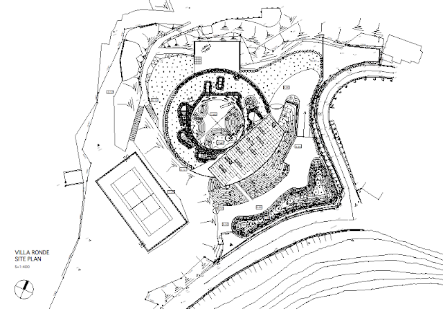 Site plan of round home site