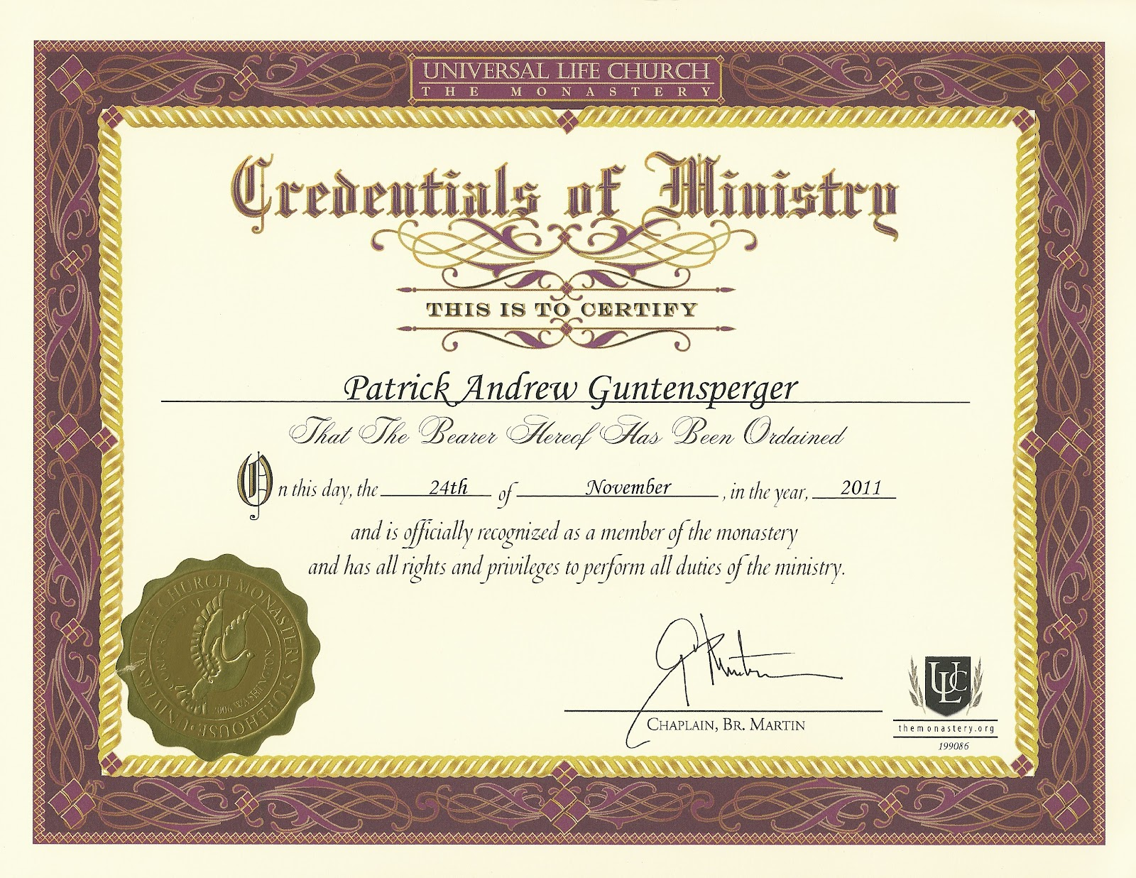 Pin certificate of ordination wicca online community for pagans and on pinterest for Free ordination certificate