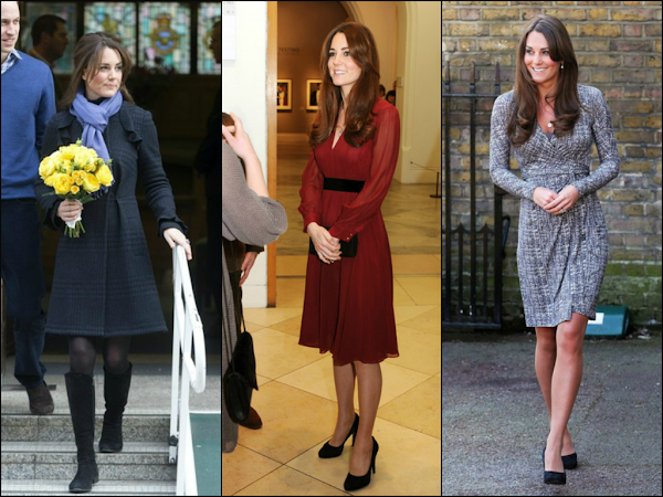 Duchess of Cambrigde's 1st and 2nd Pregnancy LookBook