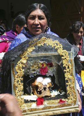 Majlis menghormati tengkorak di Bolivia