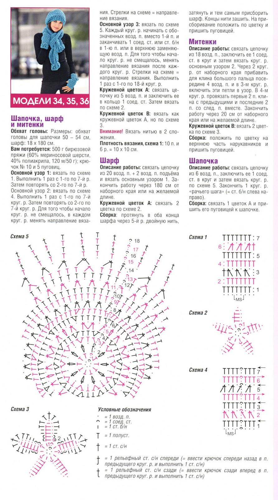 Найти вязание крючком схемы и описание