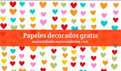 Manualidades papel decorado corazones - Papel decorado manualidades ...