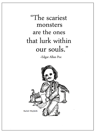 edgar allan poe coloring pages - photo#15