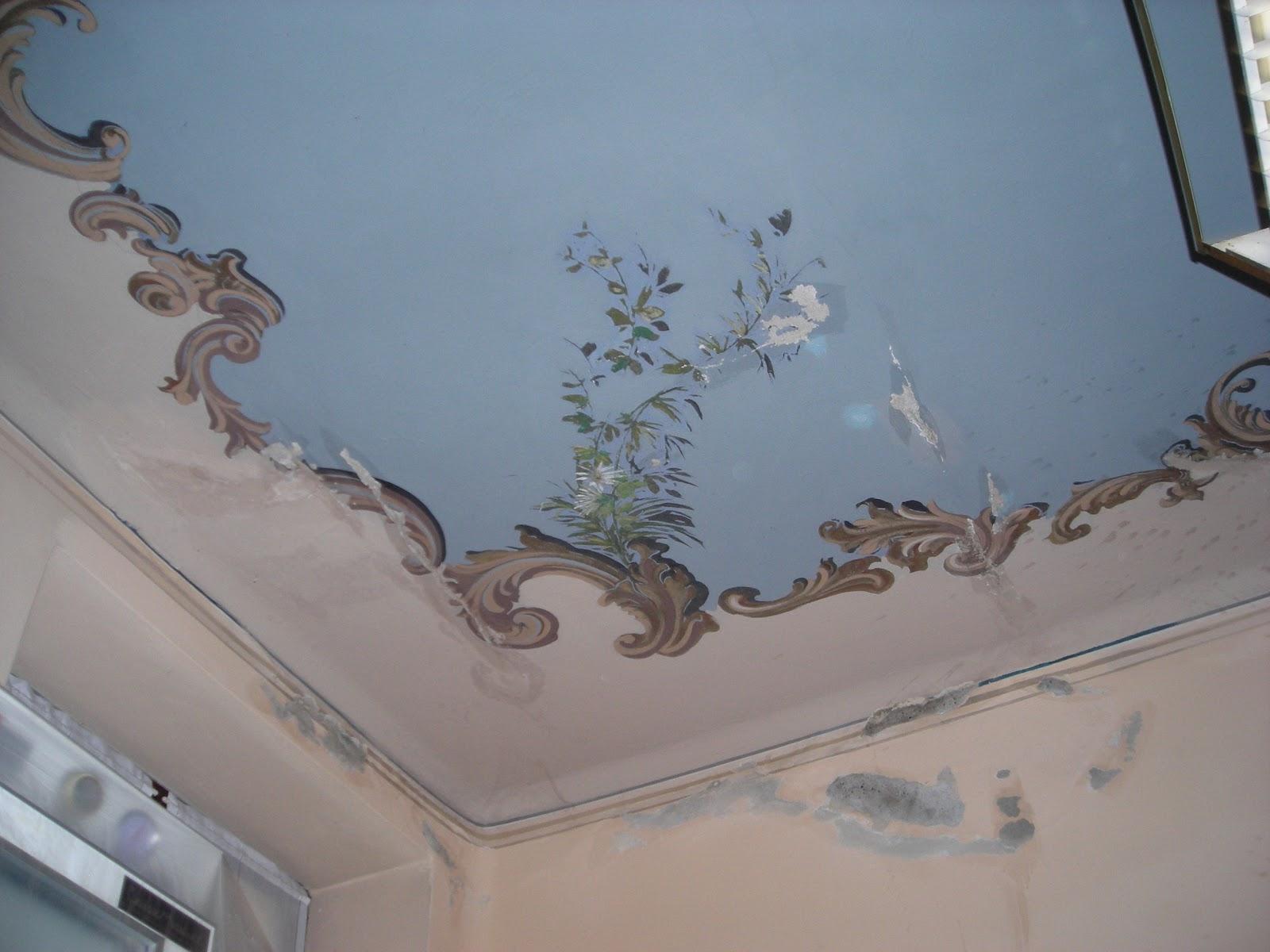 Artemusa decorazioni restauro soffitto con fiori e ornato