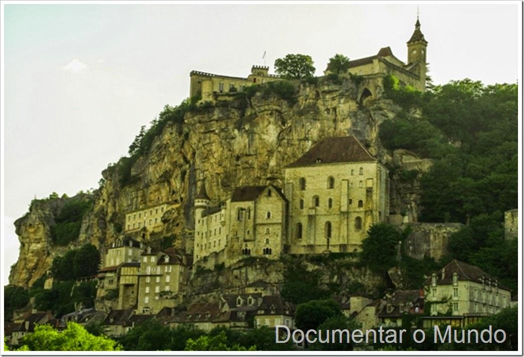Rocamadour vista do miradouro de L'Hospitalet
