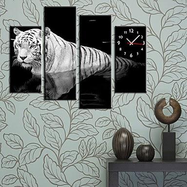 Reloj de pared Tigre Blanco